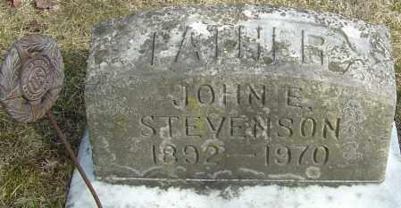 STEVENSON, JOHN E - Franklin County, Ohio | JOHN E STEVENSON - Ohio Gravestone Photos