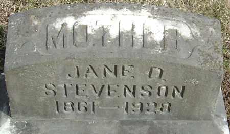 DICKSON STEVENSON, MARY JANE - Franklin County, Ohio | MARY JANE DICKSON STEVENSON - Ohio Gravestone Photos