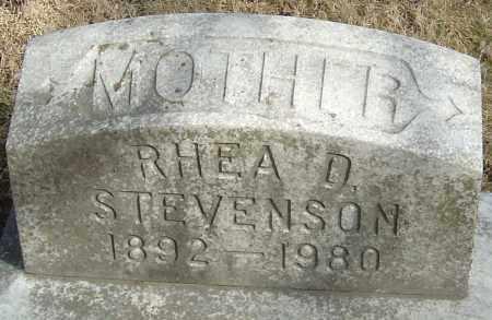 STEVENSON, RHEA D - Franklin County, Ohio   RHEA D STEVENSON - Ohio Gravestone Photos