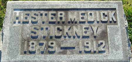 MEDICK STICKNEY, HESTER - Franklin County, Ohio | HESTER MEDICK STICKNEY - Ohio Gravestone Photos