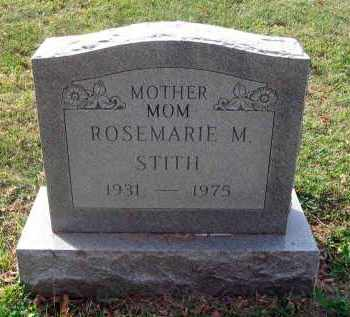 STITH, ROSEMARIE M. - Franklin County, Ohio | ROSEMARIE M. STITH - Ohio Gravestone Photos