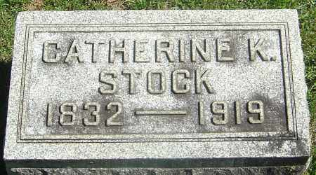 STOCK, CATHERINE - Franklin County, Ohio | CATHERINE STOCK - Ohio Gravestone Photos