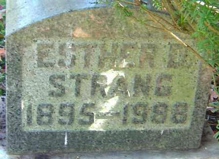 STRANG, ESTHER - Franklin County, Ohio | ESTHER STRANG - Ohio Gravestone Photos