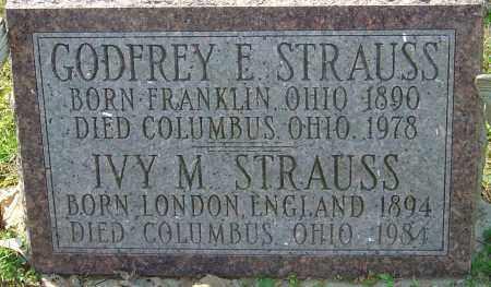 STRAUSS, IVY M - Franklin County, Ohio | IVY M STRAUSS - Ohio Gravestone Photos