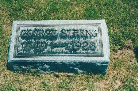 STRENG, GEORGE - Franklin County, Ohio | GEORGE STRENG - Ohio Gravestone Photos