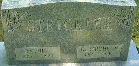 STRICKLER, RALPH I - Franklin County, Ohio   RALPH I STRICKLER - Ohio Gravestone Photos