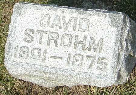 STROHM, DAVID - Franklin County, Ohio | DAVID STROHM - Ohio Gravestone Photos