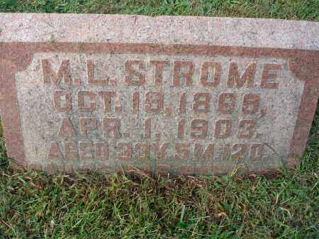 STROME, M. L. - Franklin County, Ohio | M. L. STROME - Ohio Gravestone Photos