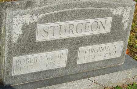 STURGEON, VIRGINIA - Franklin County, Ohio   VIRGINIA STURGEON - Ohio Gravestone Photos