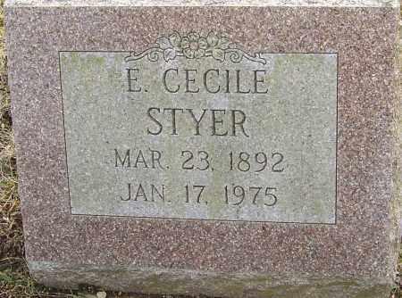 EDDY STYER, E CECILE - Franklin County, Ohio | E CECILE EDDY STYER - Ohio Gravestone Photos