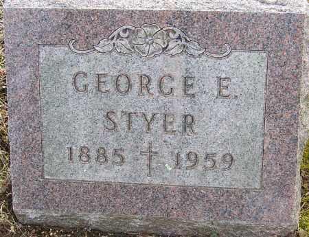 STYER, GEORGE E - Franklin County, Ohio | GEORGE E STYER - Ohio Gravestone Photos