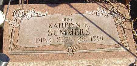 SUMMERS, KATHRYN E - Franklin County, Ohio | KATHRYN E SUMMERS - Ohio Gravestone Photos