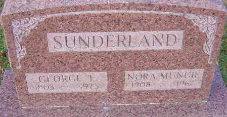 SUNDERLAND, NORA - Franklin County, Ohio   NORA SUNDERLAND - Ohio Gravestone Photos