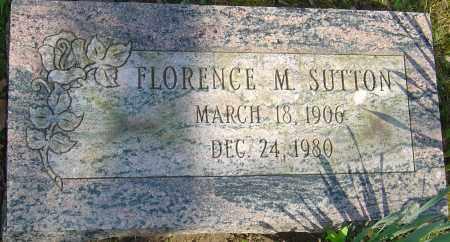 SUTTON, FLORENCE M - Franklin County, Ohio | FLORENCE M SUTTON - Ohio Gravestone Photos
