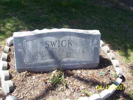 SWICK, ARGEL B - Franklin County, Ohio | ARGEL B SWICK - Ohio Gravestone Photos
