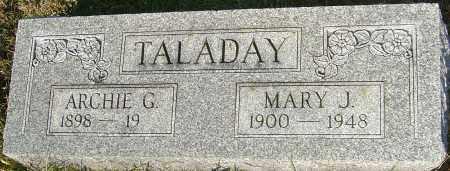 TALADAY, MARY J - Franklin County, Ohio | MARY J TALADAY - Ohio Gravestone Photos