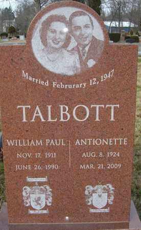 TALBOTT, WILLIAM P - Franklin County, Ohio | WILLIAM P TALBOTT - Ohio Gravestone Photos