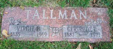 TALLMAN, GERTRUDE E. - Franklin County, Ohio   GERTRUDE E. TALLMAN - Ohio Gravestone Photos