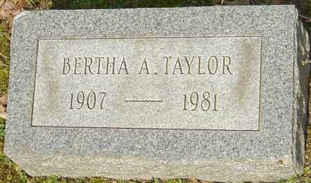 TAYLOR, BERTHA A - Franklin County, Ohio   BERTHA A TAYLOR - Ohio Gravestone Photos