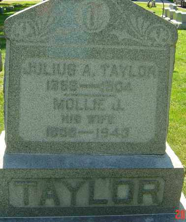MOSS TAYLOR, MOLLIE JANE - Franklin County, Ohio | MOLLIE JANE MOSS TAYLOR - Ohio Gravestone Photos