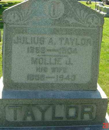TAYLOR, JULIUS A - Franklin County, Ohio | JULIUS A TAYLOR - Ohio Gravestone Photos