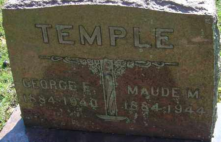TEMPLE, MAUDE MAY - Franklin County, Ohio   MAUDE MAY TEMPLE - Ohio Gravestone Photos