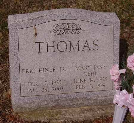 REHL THOMAS, MARY JANE - Franklin County, Ohio | MARY JANE REHL THOMAS - Ohio Gravestone Photos