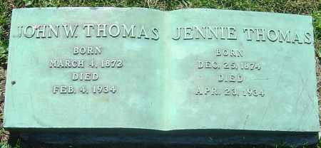 THOMAS, JOHN W - Franklin County, Ohio | JOHN W THOMAS - Ohio Gravestone Photos