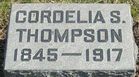 SHELLENBERGER THOMPSON, CORDELIA - Franklin County, Ohio | CORDELIA SHELLENBERGER THOMPSON - Ohio Gravestone Photos
