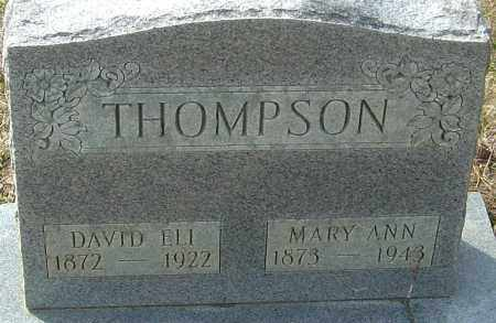 THOMPSON, DAVID ELI - Franklin County, Ohio | DAVID ELI THOMPSON - Ohio Gravestone Photos