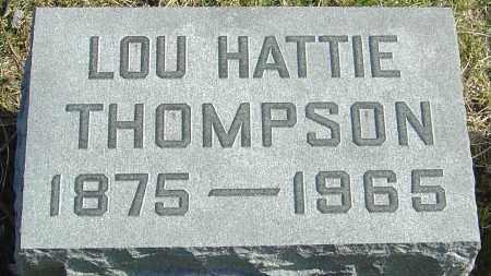 THOMPSON, LOU HATTIE - Franklin County, Ohio | LOU HATTIE THOMPSON - Ohio Gravestone Photos