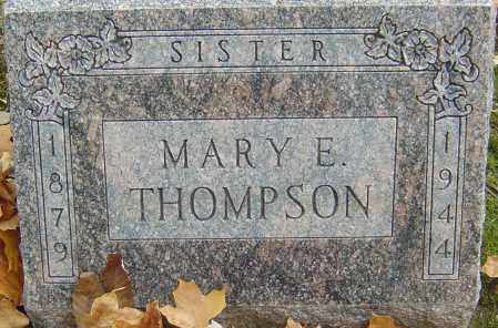 THOMPSON, MARY E - Franklin County, Ohio   MARY E THOMPSON - Ohio Gravestone Photos