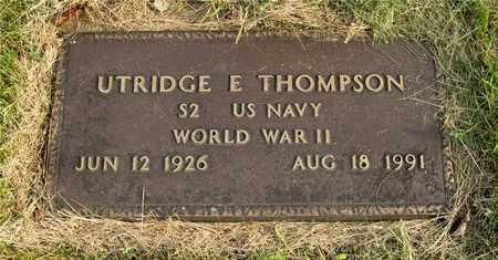 THOMPSON, UTRIDGE E. - Franklin County, Ohio   UTRIDGE E. THOMPSON - Ohio Gravestone Photos
