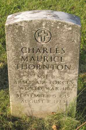 THORNTON, CHARLES MAURICE - Franklin County, Ohio | CHARLES MAURICE THORNTON - Ohio Gravestone Photos