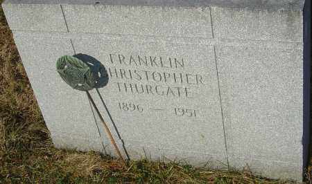 THURGATE, FRANKLIN - Franklin County, Ohio | FRANKLIN THURGATE - Ohio Gravestone Photos