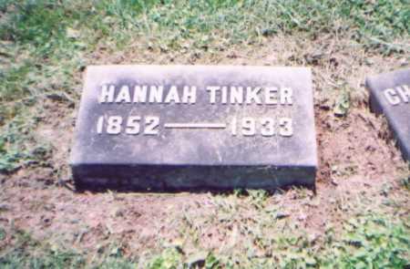 TINKER, HANNAH - Franklin County, Ohio | HANNAH TINKER - Ohio Gravestone Photos