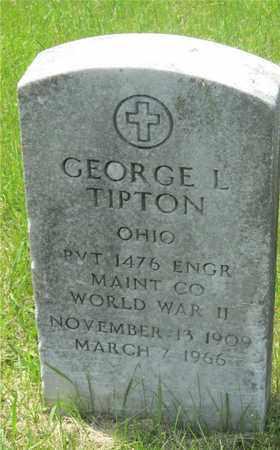 TIPTON, GEORGE L. - Franklin County, Ohio | GEORGE L. TIPTON - Ohio Gravestone Photos