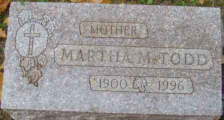 TODD, MARTHA M - Franklin County, Ohio   MARTHA M TODD - Ohio Gravestone Photos