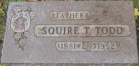 TODD, SQUIRE THOMAS - Franklin County, Ohio   SQUIRE THOMAS TODD - Ohio Gravestone Photos