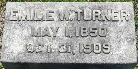 TURNER, EMILIE WALDS - Franklin County, Ohio | EMILIE WALDS TURNER - Ohio Gravestone Photos
