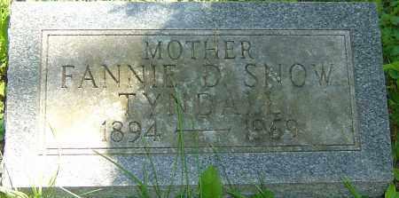 TYNDALL, FANNIE D - Franklin County, Ohio | FANNIE D TYNDALL - Ohio Gravestone Photos