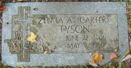 CARTER TYSON, ZELMA A - Franklin County, Ohio   ZELMA A CARTER TYSON - Ohio Gravestone Photos
