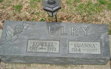 ULRY, LOWELL - Franklin County, Ohio | LOWELL ULRY - Ohio Gravestone Photos