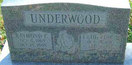 UNDERWOOD, RAYMOND C - Franklin County, Ohio | RAYMOND C UNDERWOOD - Ohio Gravestone Photos
