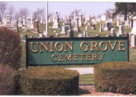 UNION GROVE CEMETERY, SIGN - Franklin County, Ohio | SIGN UNION GROVE CEMETERY - Ohio Gravestone Photos