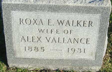 VALLANCE, ROXA E - Franklin County, Ohio | ROXA E VALLANCE - Ohio Gravestone Photos