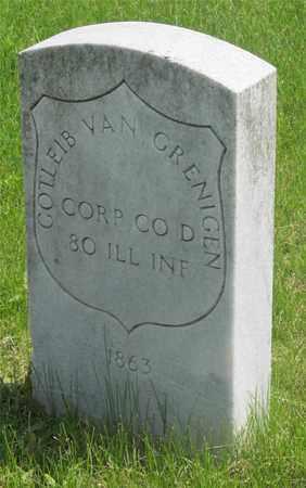 VAN GRENIGEN, GOTLEIB - Franklin County, Ohio | GOTLEIB VAN GRENIGEN - Ohio Gravestone Photos