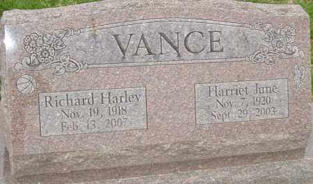 VANCE, HARRIET JUNE - Franklin County, Ohio   HARRIET JUNE VANCE - Ohio Gravestone Photos