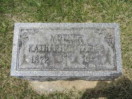 VARGO, KATHARINE - Franklin County, Ohio | KATHARINE VARGO - Ohio Gravestone Photos