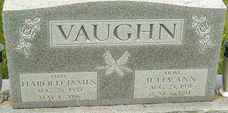 VAUGHN, HAROLD JAMES - Franklin County, Ohio | HAROLD JAMES VAUGHN - Ohio Gravestone Photos